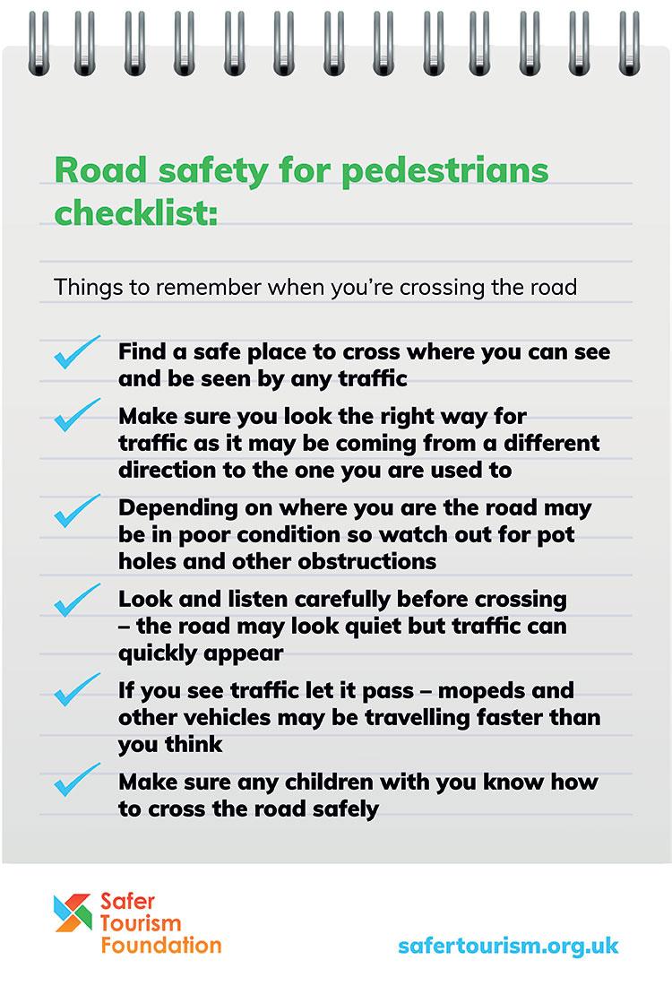 Road safety checklist