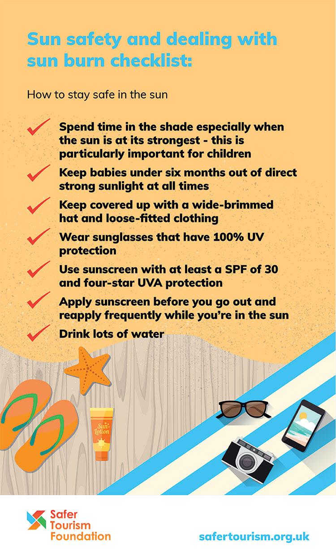 Sun safety checklist