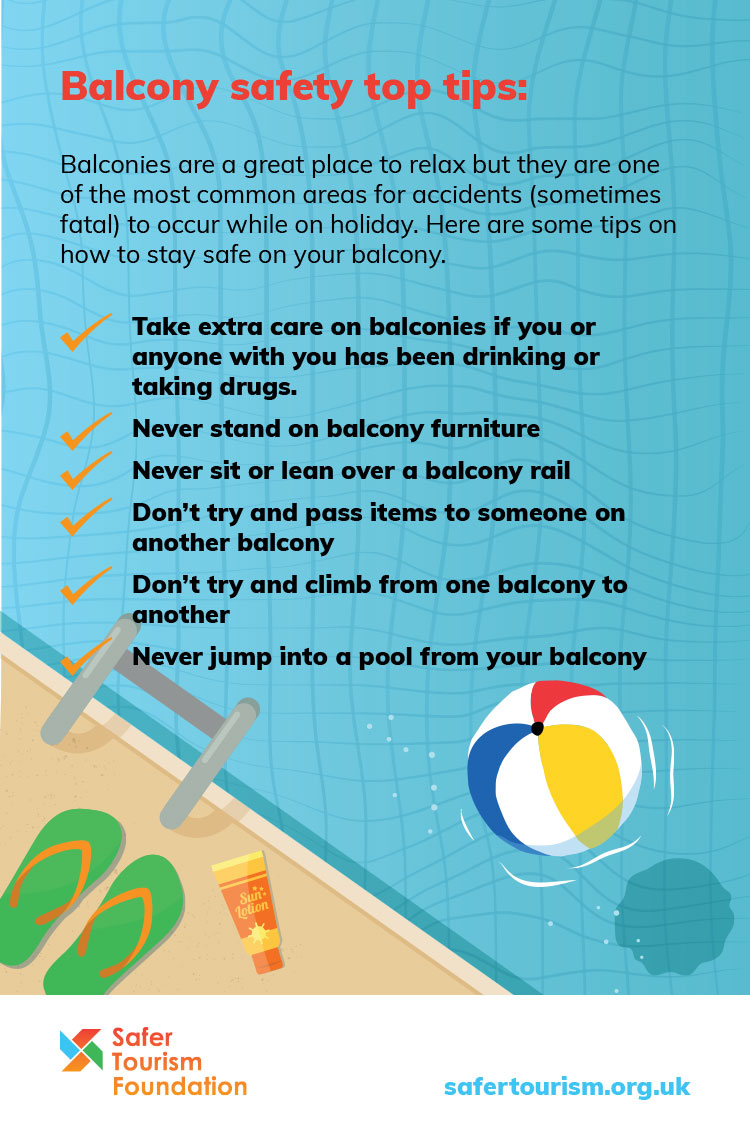 Safer Tourism balcony safety checklist