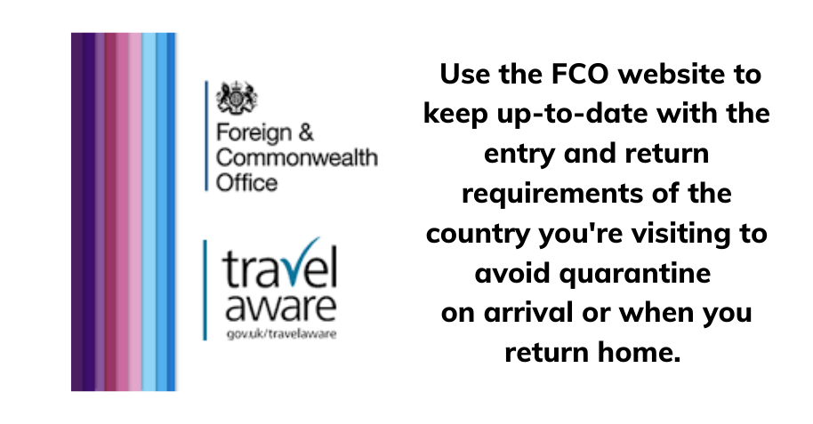 Check the latest FCO travel advice before you travel for guidance on staying safe abroad.